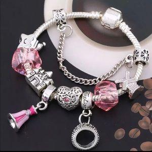 Jewelry - Brand New Pink Disney Princess Charm Bracelet
